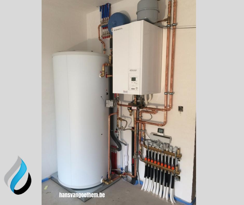 Waterstage lucht-waterwarmtepomp